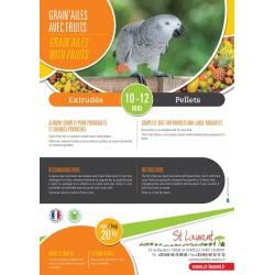 Grain'Ailes (with dried fruit) - Parrots/Large Parakeets