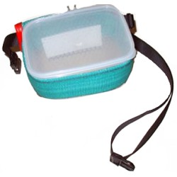 Food holder belt with container