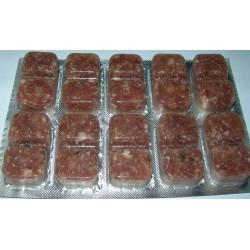 Nourriture congelée pour tortue en bliste de 100g x 25